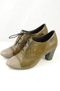 Camper Lace Up Heels Mustard  39 by Reluv Clothing