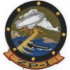 Us Navy Zp-1 Aviation Airship Patrol Squadron One Patch Sticker