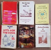 Vintage Cookbooks Lot Church Community Midwest Iowa Wisconsin Minnesota 50s 60s