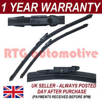 """FOR VAUXHALL MOKKA 2012 ON DIRECT FIT FRONT AERO WIPER BLADES PAIR 26"""" + 13"""""""
