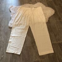 Chicos Womens Cropped Pants White The Ultimate Fit Pockets Tencel M/10 1.5 New