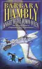 BARBARA HAMBLY KNIGHT OF THE DEMON QUEEN BK 3 WINTERLANDS HCDJ 2000 1ST ED NEW