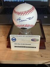 willie mays autographed baseball Steiner COA