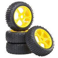 Buggy Reifen Felgenset REX-X mit 5-Doppelspeichenfelge gelb 1:8 4 Stück partCore