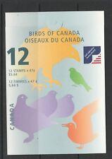 Canada Booklet 2001 $5.64 Birds ( 6th Series) SG SB253