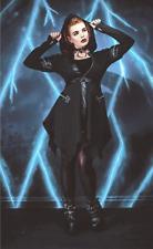 Necessary Evil Moirai Gothic Black Winter Coat- UK Ladies Size XXL(18) - New