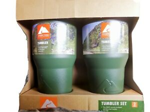 Two 30 Oz Stainless Steel Tumblers Vacuum Insulated Green Ozark Trail New In Box