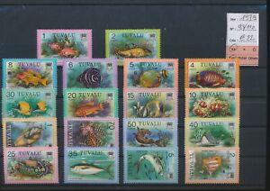 LN73186 Tuvalu 1979 fish coral sealife fine lot MNH cv 22 EUR