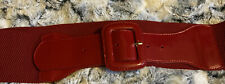 Wide Red M&S Belt Size M/L
