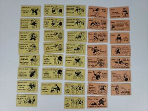 1936 Monopoly Replacement Parts- 15 Chance & 23 Community Chest Cards ONLY