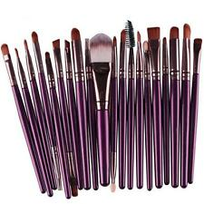 20 pcs Makeup Brush Set tools Make-up Toiletry Kit Wool Make Up Brush Purple