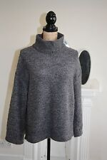 Elizabeth and James Jumper Grey Polo Neck Thick Chunky 10 Small 12 S Medium