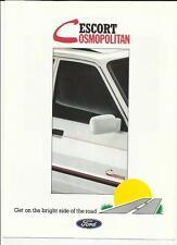 Ford Escort Special Edition Cosmopolitan folleto de ventas 1988 de julio