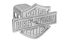 Harley-Davidson Trailer Hitch Cover Plug With 3D Monotone Bar & Shield
