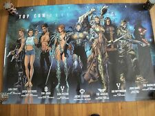 Top Cow 2001 Universe Poster Witchblade Fathom Tombraider Turner D Tron