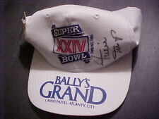 WILLIE MAYS AUTO. SUPER BOWL XXIV BALY'S GRAND CAP