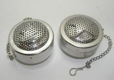 Stainless steel tea infuser set w/ STAR / MOON pattern, Set of 2 pcs, Dia. 4 cm