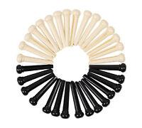 Lots of 100pcs Universal Acoustic Guitar Bridge Pins Plastic Ivory White Black