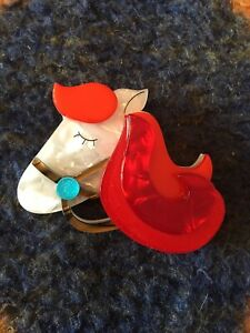 ERSTWILDER BROOCH - HIS GIRL FRIDAY - OLD WESTERN HORSE.