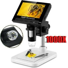 43 1000x Electronic Digital Lcd Video Microscope Adjustable 8 Led Magnifier Us