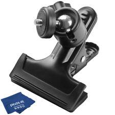 "Phot-R Clamp Clip 1/4"" Screw Ball Head Camera Tripod Bracket Microfibre Cloth"