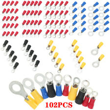 102Pcs Assorted Insulated Ring Crimp Terminal Electrical Wire Connector Kits OPP