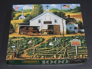 """Early 1990s Charles Wysocki Americana 1000 Piece Jigsaw Puzzle """"CATCHIN' BUGS"""""""