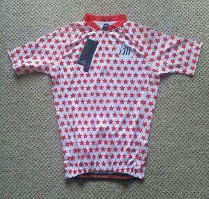 Chuang Di Womens Cycling Jersey, Full Zip Front, Back Pockets, Non Slip, Medium