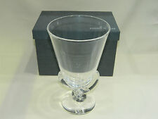 New in Box Steuben Crystal Flower Vase with Looped Stem by George Thompson 1942