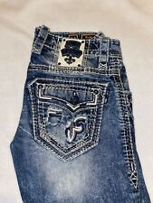 Rock Revival Mens Jeans 30 Slim Straight Nadlo $200 JEANS!
