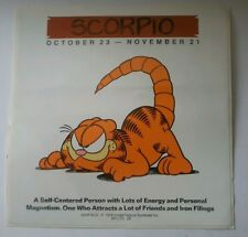 OLD (1978) GARFIELD SCORPIO STAR SIGN CAR/DOOR/WALL STICKER