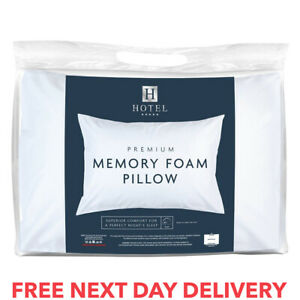 Pair Memory Foam Pillows Orthopaedic Extra Support Firm Bed Neck Back Comfort