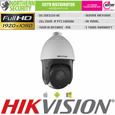 HIKVISION PTZ IP SPEED DOME SECURITY CAMERA 2MP POE 150M IR 20x PAN TILT ZOOM
