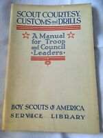 1942 Scout Courtesy, Customs and Drills Troop Council Boy Scouts of America BSA