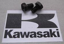 Genuine Kawasaki Tornillo de cabeza hexagonal exterior M6 X 10mm Negro 92002-1222 2-Pack