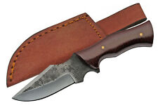 "Hunting Knife | Carbon Steel Blade Micarta Handle Full Tang 6.25"" Leather Sheath"