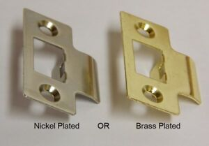 1 REPLACEMENT BRASS PLATED MORTICE LATCH STRIKING PLATE KEEPER DOOR FRAME BAG 1