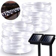 50/100/200LED Exterior Impermeable Solar Cuerda Luces de Hadas Cadena de Luz Decoración