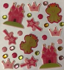 FROG PRINCESS Epoxy Stickers(29pc) atd•Rhinestones•Heart•Castle•Magic Wand•Crown
