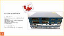 CISCO CCNA LAB. CISCO 2801 & WS-C3550-24-SMI/EMI spedizione gratuita.