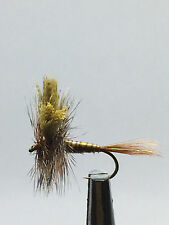 12QTY MARCH BROWN WESTERN Fly  Fishing Flies size 12
