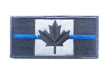 CANADA FLAG CANADIAN SWAT POLICE THIN BLUE LINE ACU DARK HOOK & LOOP PATCH BADGE