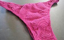 Mens Custom G string thong or Half Back Swim suit Crochet Spandex mulberry  USA