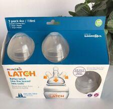 Munchkin Latch 2 Pack 4 Oz Bottles, NIB, BPA Free, Less Colic, 0+3+Months