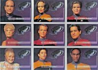 STAR TREK VOYAGER SEASON 1 SERIES 2 EMBOSSED CREW CARD E1 TO E9 CHOOSE