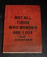 Leder Notizbuch Tagebuch Blanco 13 x 18 geprägt Text  J.A.A. Tolkien Handarbeit