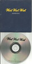 WET WET WET Morning CARD SLEEVE Europe made PROMO DJ CD single USA seller 1995