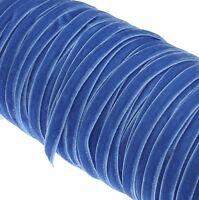 20 Meter Samtband Blau 6mm Samtborte Schmuckband Schleifenband Zierband C187