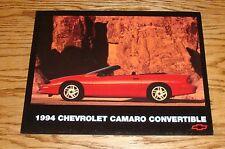 Original 1994 Chevrolet Camaro Convertible Fact Sheet Sales Brochure 94 Chevy