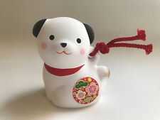 1x Japanese  White Lucky Puppy Dog  Ornament  #830-692